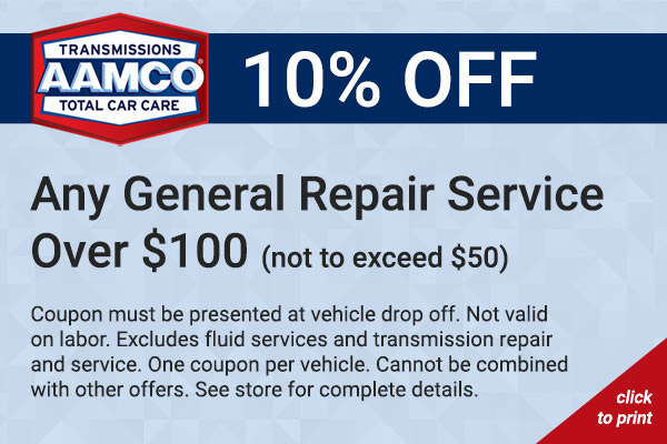 10% off general repair coupon