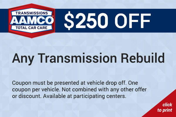 $100 off transmission rebuild coupon